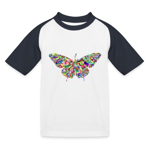 Geflogener Schmetterling - Kinder Baseball T-Shirt