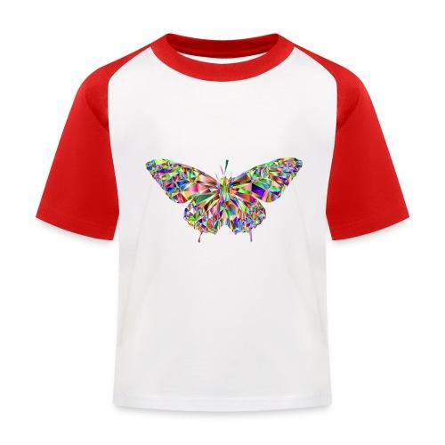 Geflogener Schmetterling - Kinder Baseball T-Shirt
