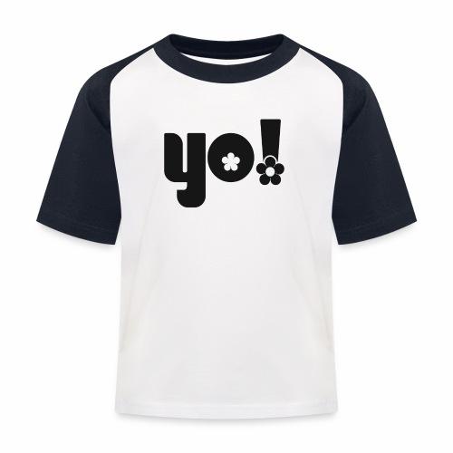 Yo power - Baseball T-shirt til børn