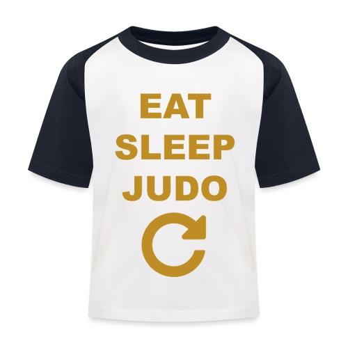 Eat sleep Judo repeat - Koszulka bejsbolowa dziecięca