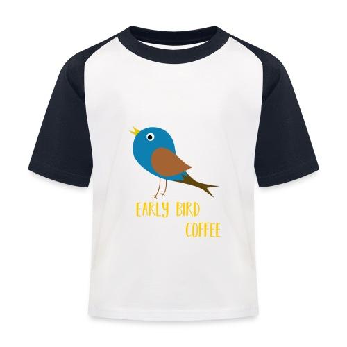 The early bird needs a lot of COFFEE v1 - Kinder Baseball T-Shirt
