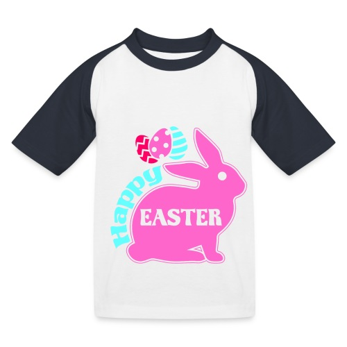Happy Easter - Frohe Ostern - Kinder Baseball T-Shirt