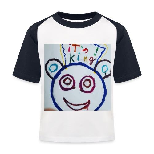de panda beer - Kinderen baseball T-shirt