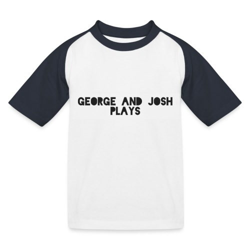 George-and-Josh-Plays-Merch - Kids' Baseball T-Shirt