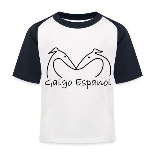 Galgopaar - Kinder Baseball T-Shirt