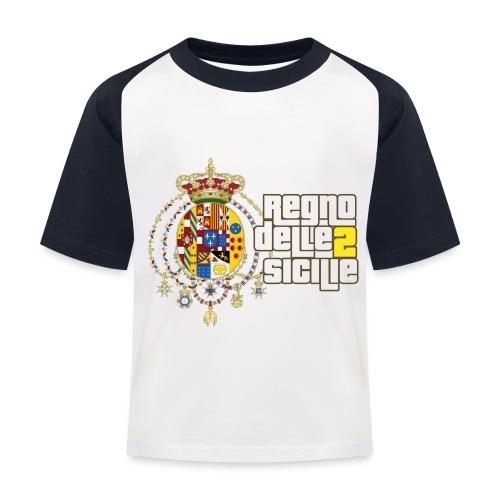 regno delle 2 sicilie testo bianco - Maglietta da baseball per bambini
