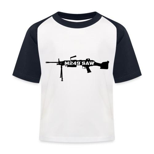 M249 SAW light machinegun design - Kinderen baseball T-shirt