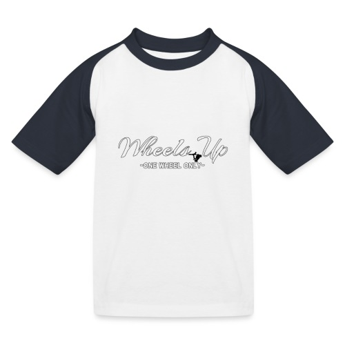 wheels up black figure - Kids' Baseball T-Shirt