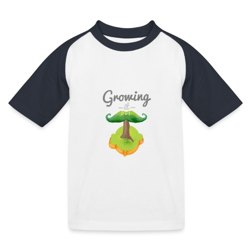 Moustache tree - Kids' Baseball T-Shirt