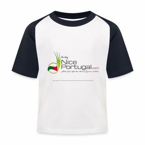 NicePortugal.com Logo - Maglietta da baseball per bambini