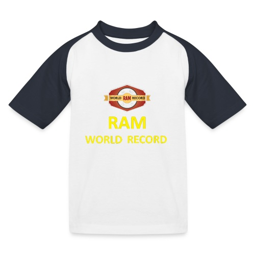 RWR gelb mit Datum (weiß) - Kinder Baseball T-Shirt
