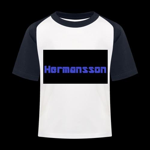 Hermansson Blå/Svart - Baseboll-T-shirt barn