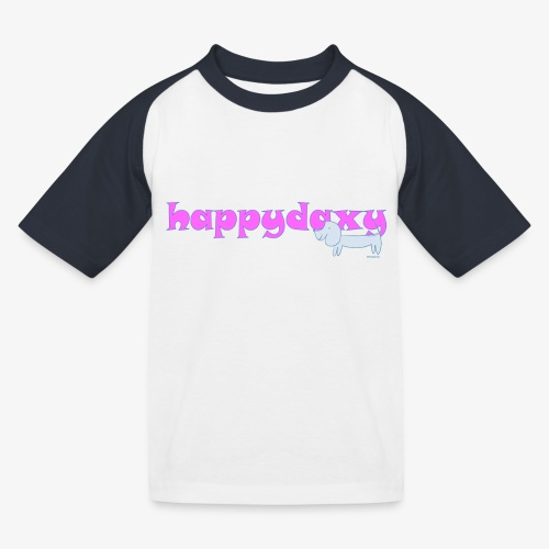 Happy Daxy Pink by Sue Anderson - Kids' Baseball T-Shirt