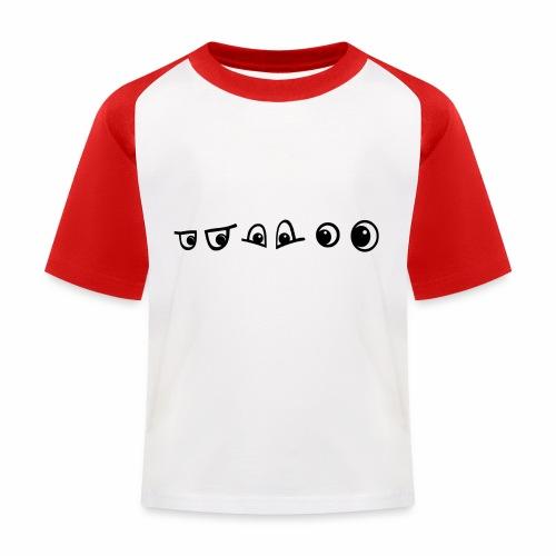 graffiti caracter augen - Kinder Baseball T-Shirt