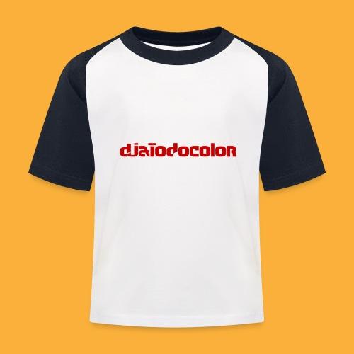 DJATODOCOLOR LOGO ROJO - Camiseta béisbol niño