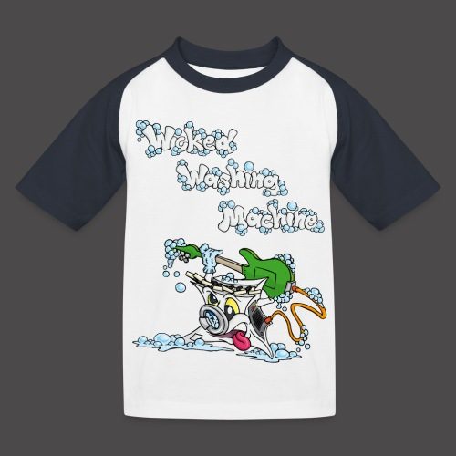 Wicked Washing Machine Cartoon and Logo - Kinderen baseball T-shirt