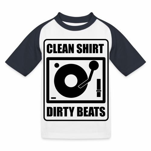 Clean Shirt Dirty Beats - Kinderen baseball T-shirt