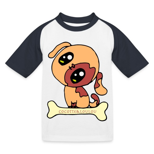 Kawaii le chien mignon - T-shirt baseball Enfant