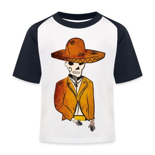 Mariachi morti - Maglietta da baseball per bambini