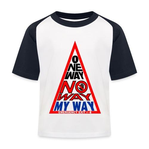 No way - Maglietta da baseball per bambini