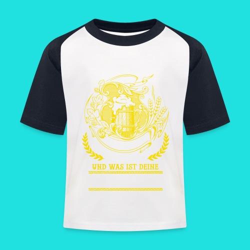 Bier Superkraft - Kinder Baseball T-Shirt