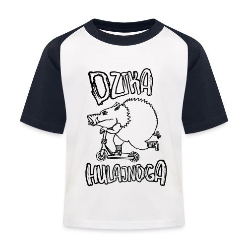 dzik na hulajnodze - Koszulka bejsbolowa dziecięca