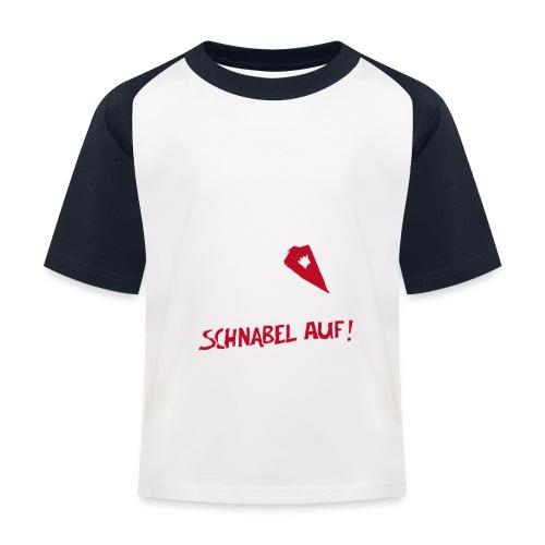 Schnabel auf gegen Hetzer und Rassisten - Kinder Baseball T-Shirt