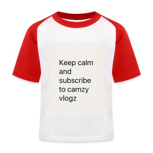Keep calm - Kids' Baseball T-Shirt