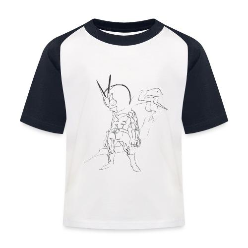 supereroe - Maglietta da baseball per bambini