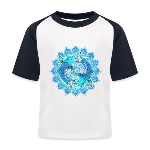 Asian Pond Carp - Koi Fish Mandala 1 - Kinder Baseball T-Shirt