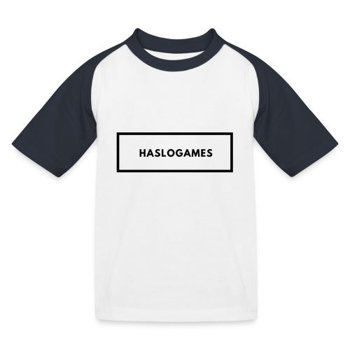 HasloGames White/Black edition! - Kinderen baseball T-shirt