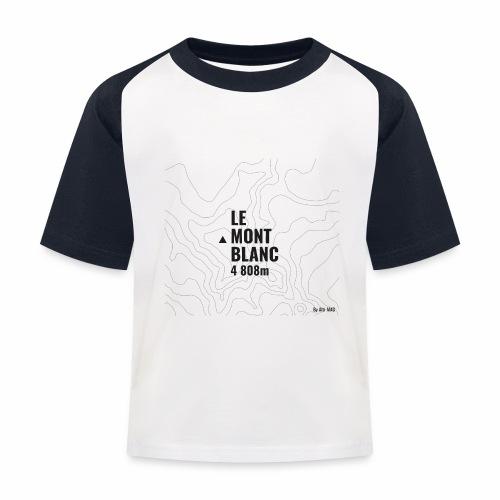 Mont Blanc et courbes de niveau - T-shirt baseball Enfant