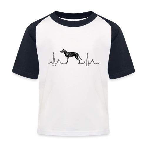 ECG met hond - Kinderen baseball T-shirt