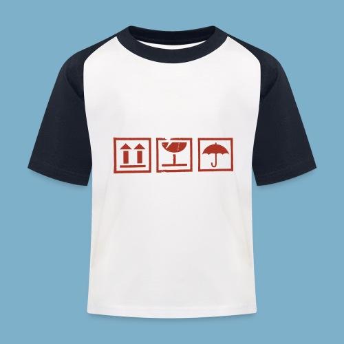 Zerbrechlich - Kinder Baseball T-Shirt