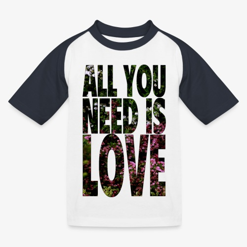 All You need is love - Koszulka bejsbolowa dziecięca