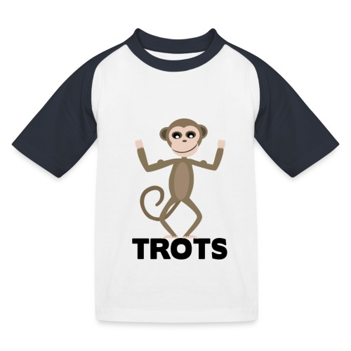 apetrots aapje wat trots is - Kinderen baseball T-shirt