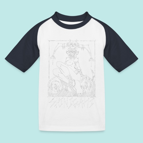 Femme elfe crâne mort dark rock Blanc - T-shirt baseball Enfant