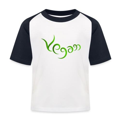 Vegaani käsinkirjoitettu design - Lasten pesäpallo  -t-paita