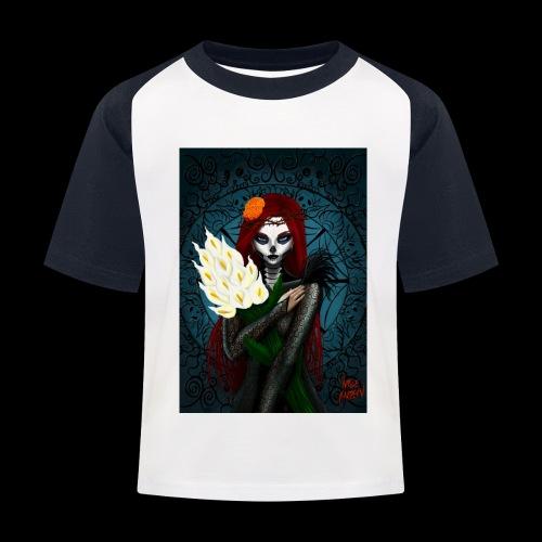 Death and lillies - Kids' Baseball T-Shirt