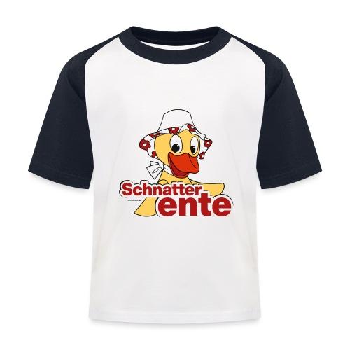 Schnatterinchen Schnatterente - Kinder Baseball T-Shirt