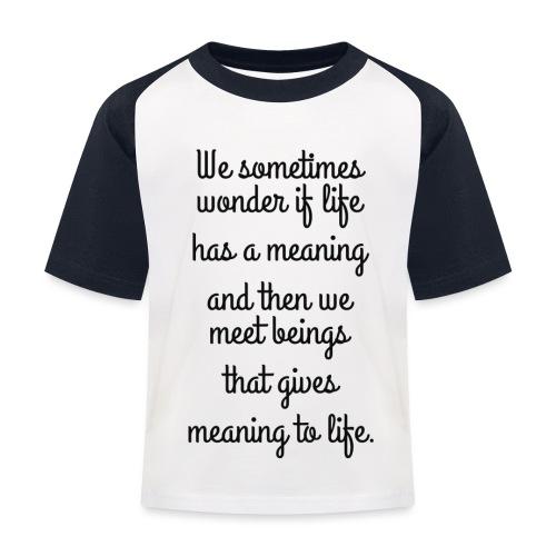 Phrase d'amour en anglais - T-shirt baseball Enfant