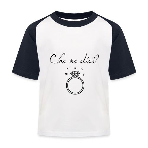 MarryMe - Maglietta da baseball per bambini