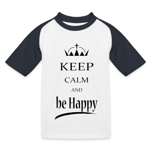 keep_calm and_be_happy-01 - Maglietta da baseball per bambini