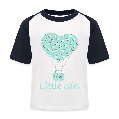 Little Girl in mongolfiera - Maglietta da baseball per bambini