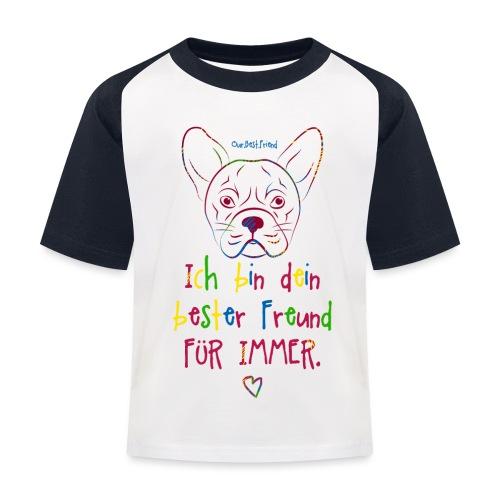 Bester Freund Frenchie - Französische Bulldogge - Kinder Baseball T-Shirt