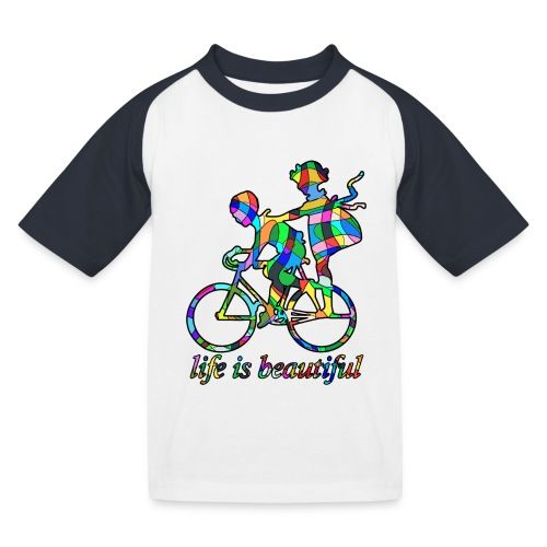 Life is beautiful - Kinder Baseball T-Shirt