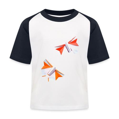 Butterflies Origami - Butterflies - Mariposas - Kids' Baseball T-Shirt