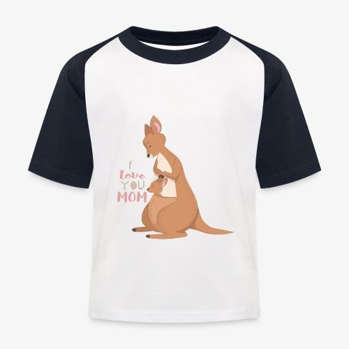 Kangaroo Mom Love - Baseball-T-skjorte for barn