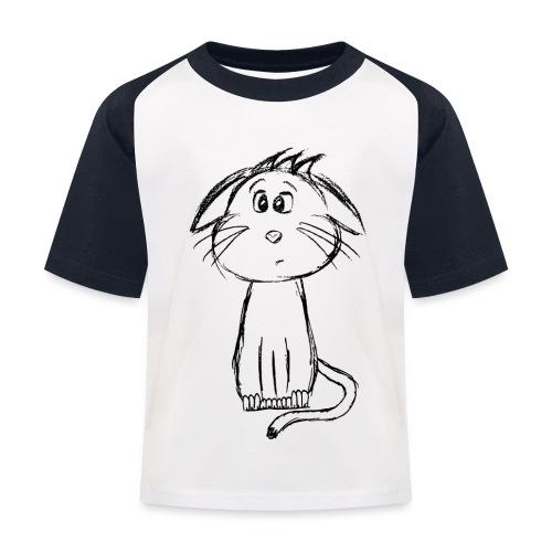 Kissa Kissanpentu musta scribblesirii - Lasten pesäpallo  -t-paita
