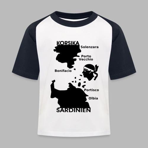 Korsika Sardinien Mori - Kinder Baseball T-Shirt